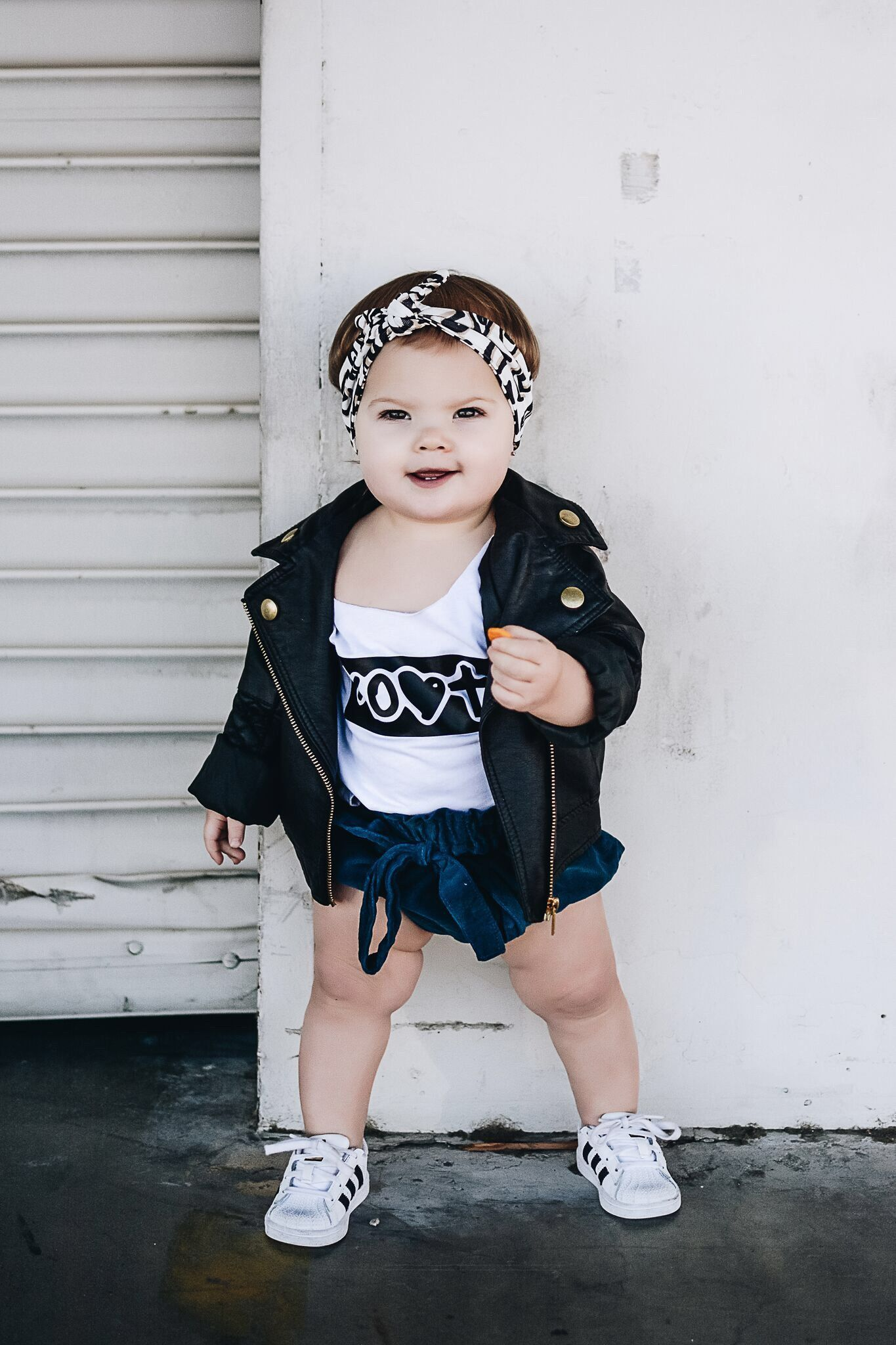 Kids Unisex Leather Jacket Toddler Fashion Baby Outerwear Kids Dress