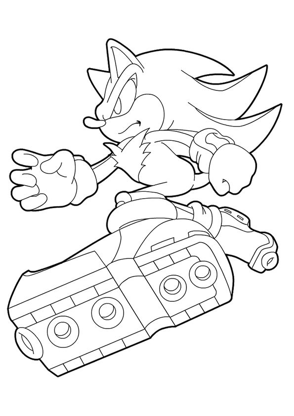 Print Coloring Image Momjunction Hedgehog Colors Coloring Pages Shadow The Hedgehog
