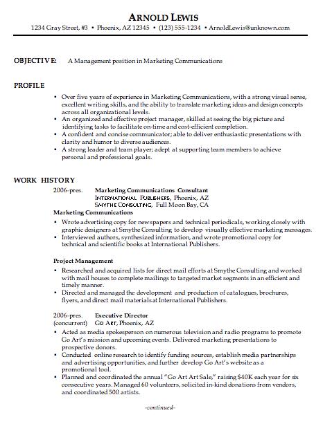 Combination Resume Sample Marketing Communications Manager Job Resume Job Resume Samples Marketing Resume