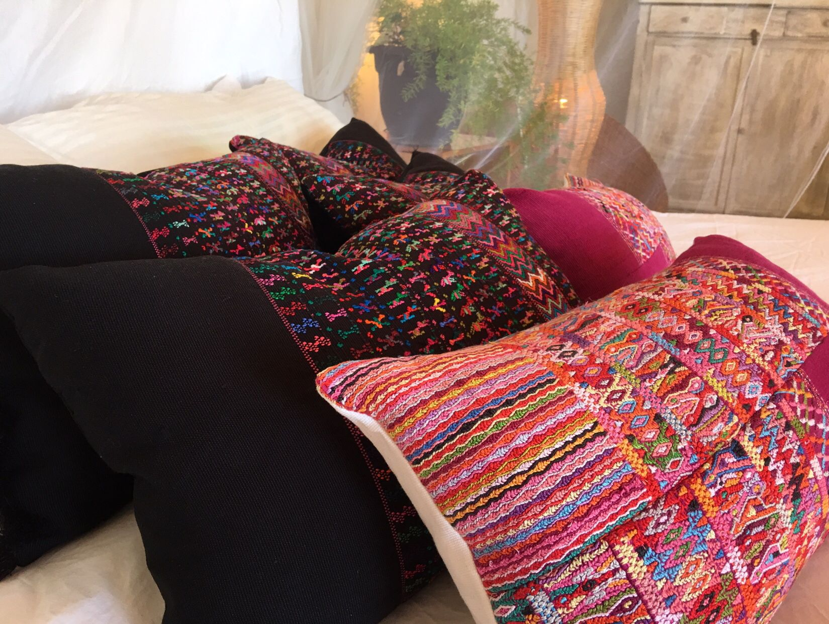 Whimsical Elegant and Contemporary Boho Pillows by LamourHome