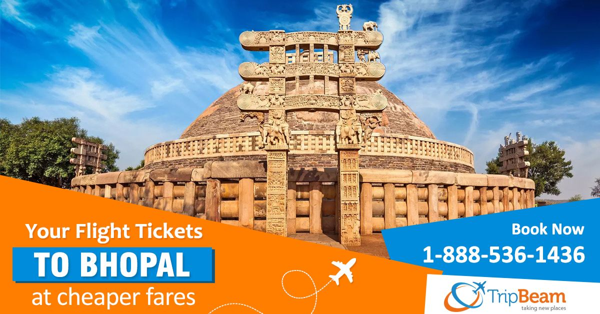 Avail amazing discounts & deals today with #Tripbeam on flight tickets to #Bhopal! Book Now!      For more information: Contact us at: 1-888-536-1436 (Toll-Free), info@tripbeam.ca.  #FlightsToBhopal #travelbhopal #bhopalisbeautiful #CanadatoIndiaflights #Vacation #Destinations #Touristattractions #CanadatoIndia #VisitBhopal #Visitindia #TravelLover #Travellers #IncredibleIndia