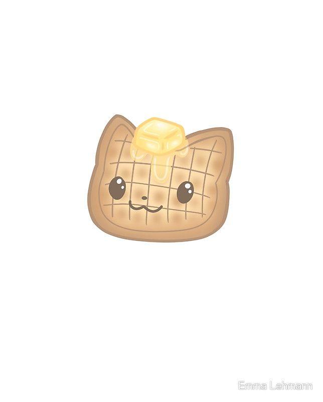 Kawaii Waffle Cat Singular Graphic T Shirt By Emma Lehmann In 2021 Warrior Cats Fan Art Kawaii Doodles Kawaii