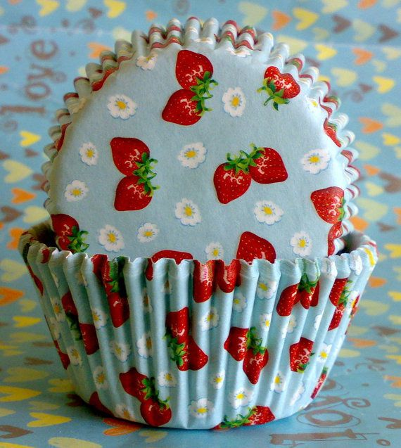 Sweet Strawberry Muffin Baking Cups Cupcake Liners Strawberry