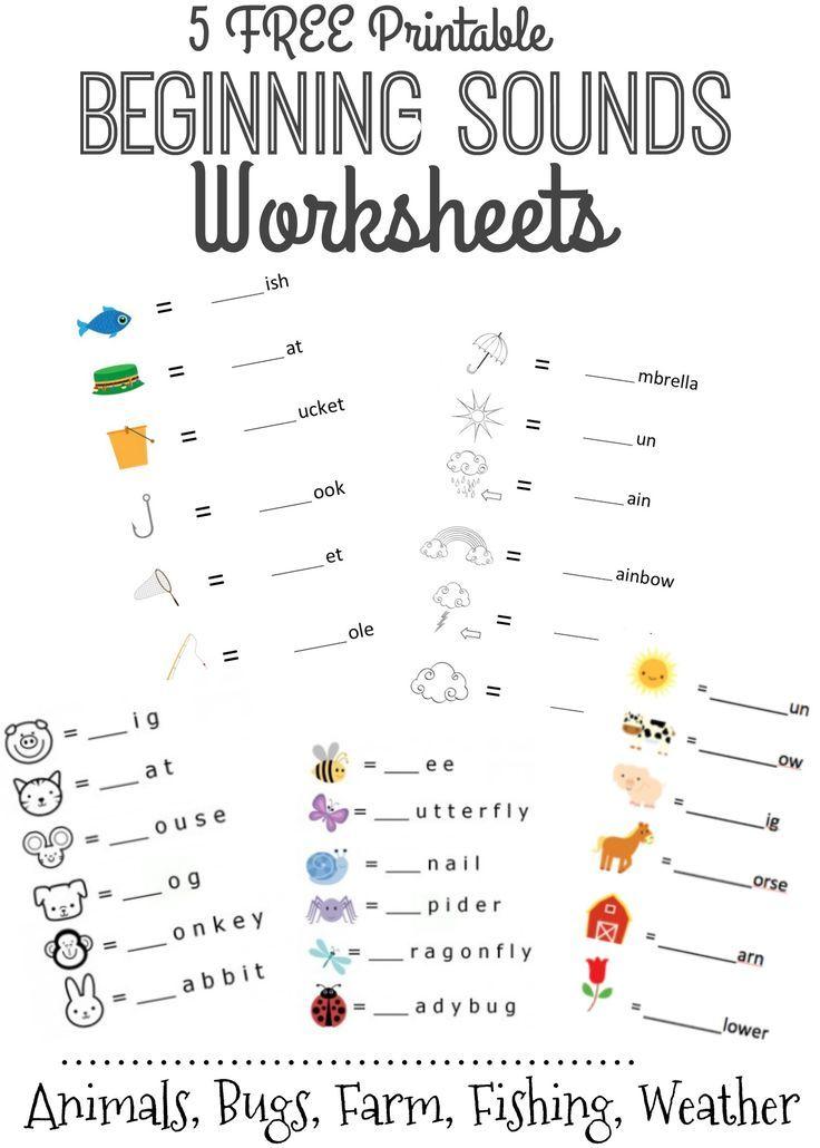 Beginning Sounds Letter Worksheets For Early Learners Beginning Sounds  Worksheets, Letter Sounds Kindergarten, Free Kindergarten Worksheets