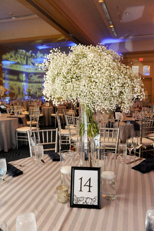 white flower centerpieces for weddings   SA2 Green and white Indian wedding flower centerpiece ...: