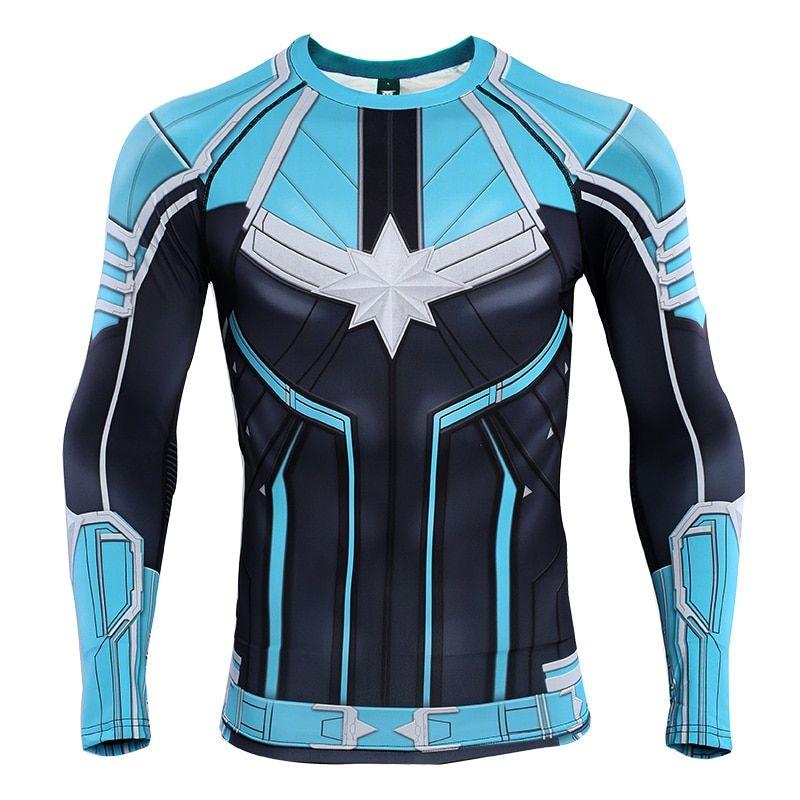 Captain marvel rashguard yonrogg jersey compression