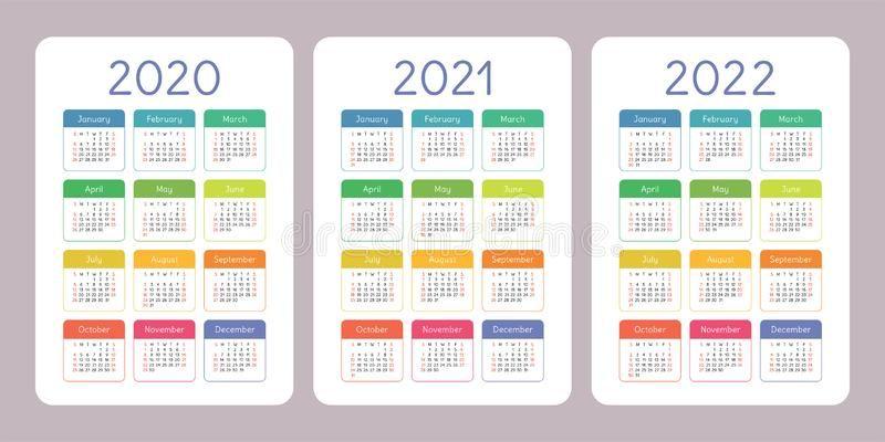 Vertical Calendar 2022.Calendar 2020 2021 2022 Years Vertical Vector Calender Design Template Color Sponsored Sponsored Ad Y Calender Design Design Template Calendar 2020