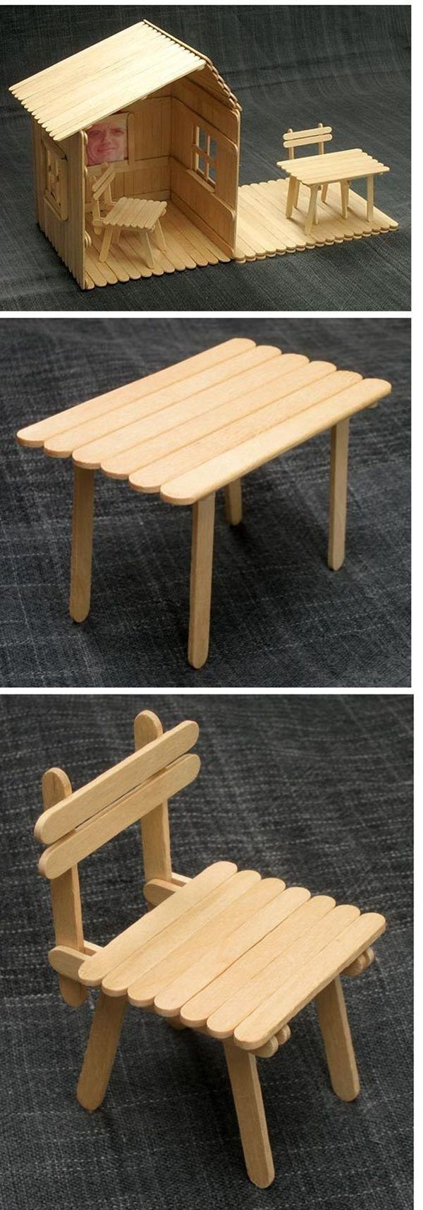 Image result for popsicle stick furniture #hausdesign
