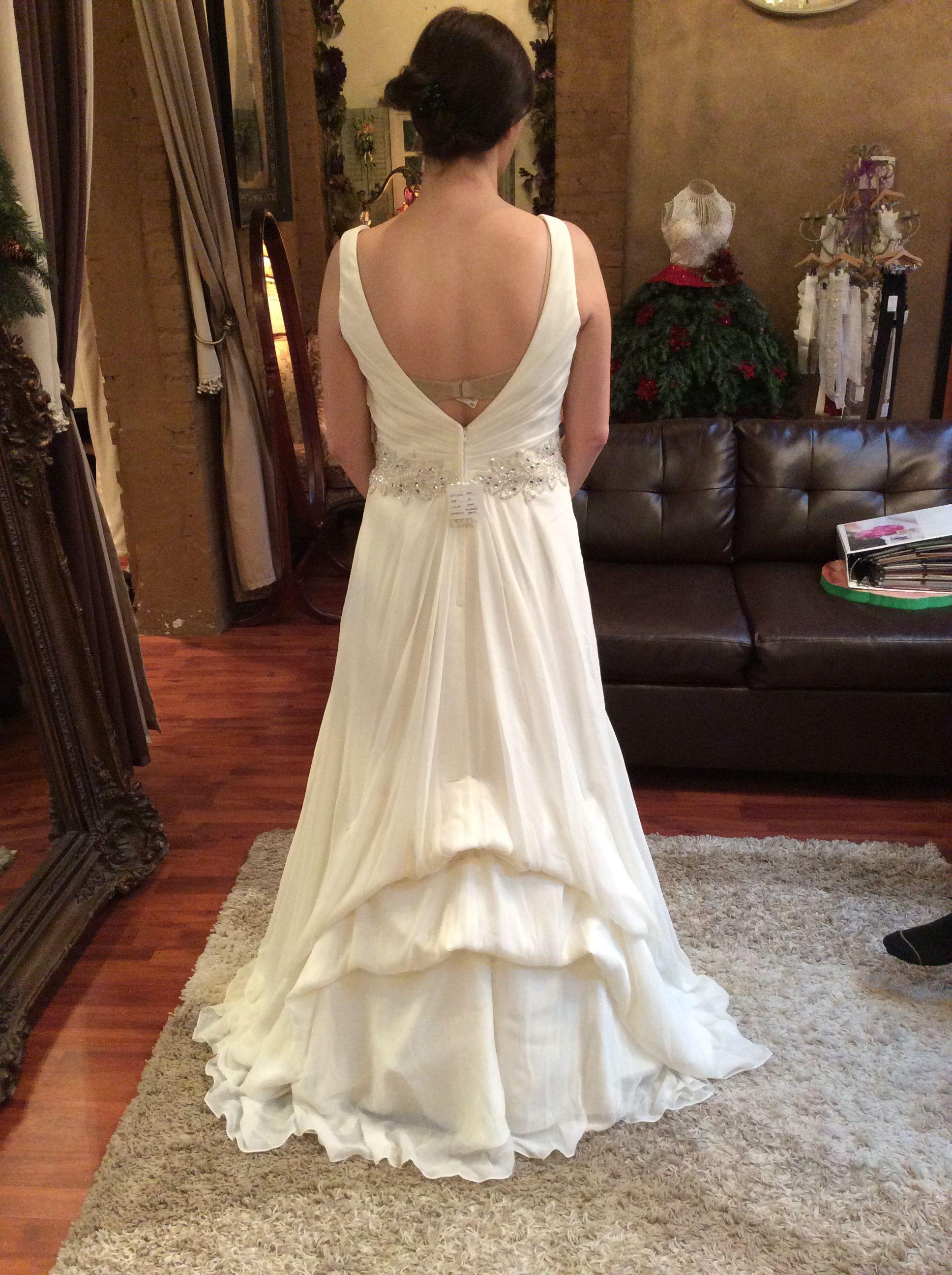 Waterfall bustle Wedding dress bustle, Wedding gown