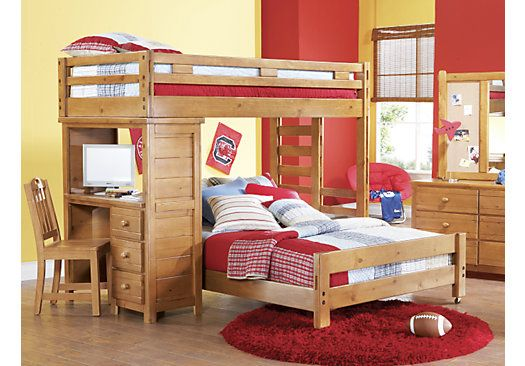 Shop For A Creekside 9 Pc Twin Full Student Loft Bedroom At Rooms To Go Kids Find That Will Look Grea Kids Bunk Beds Bunk Bed With Desk Bunk Beds With Stairs