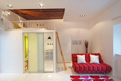 Ljubljana apartments living room loft beds pinterest for Winzige wohnung einrichten