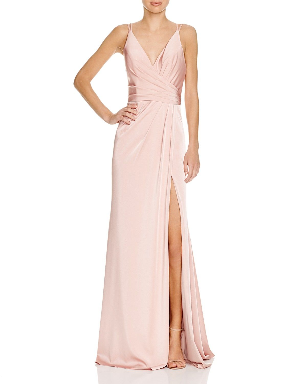 Faviana Couture Faille Satin Draped Gown Women Dresses Evening Formal Gowns Bloomingdale S Pink Evening Gowns Drape Gowns White Evening Gowns [ 1500 x 1200 Pixel ]