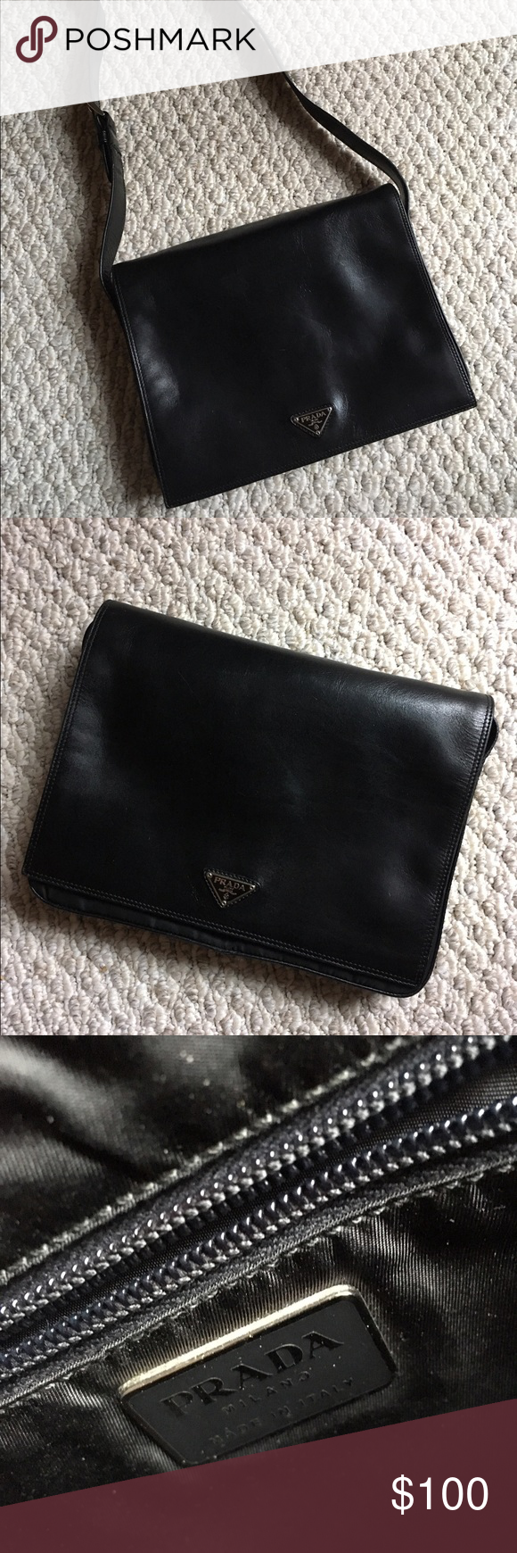 134dda3cf459 ... best price prada clutch black boxy vintage bag from prada. i bought  this from a