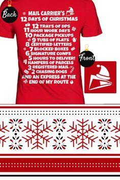 011f5f52f Christmas Postal Worker Tee Shirt.
