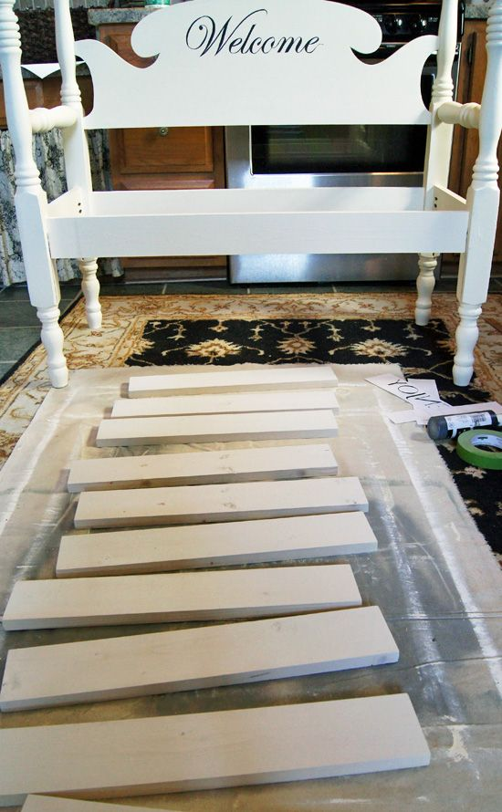 How to Build a Headboard Bench   Confessions of a Serial Do-it ...