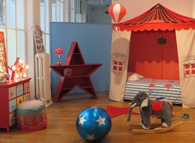 Photo idée déco chambre garçon 2 3 4 5 6 7 8 ans thème cirque ...