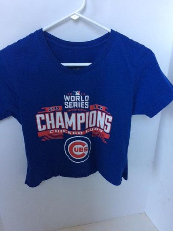 75cc041d Chicago cubs world series cropped top size medium cubs baseball chicago  champions