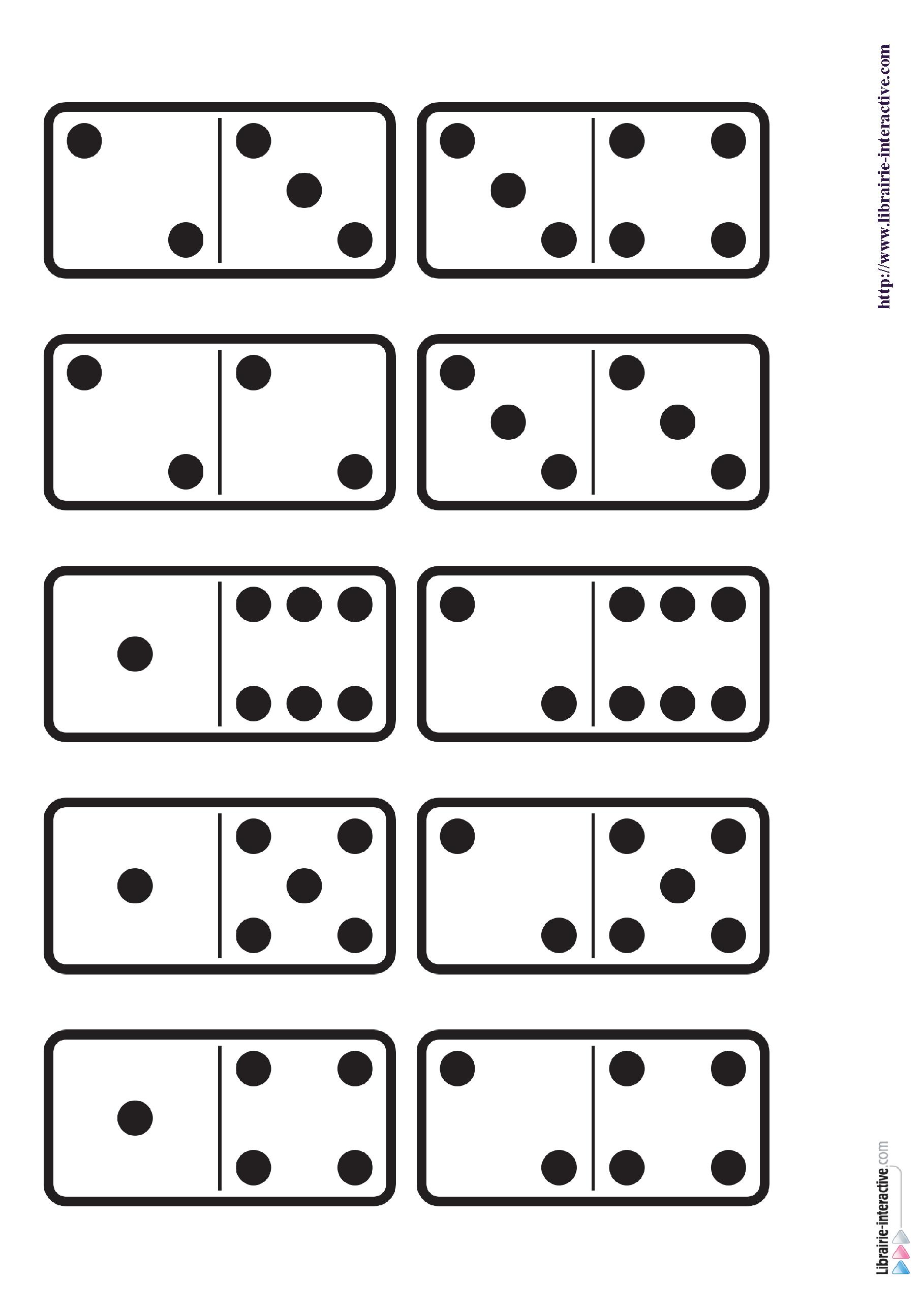 29 Images Des Dominos Des Chiffres De 1 A 6 Ainsi Qu Une Planche A