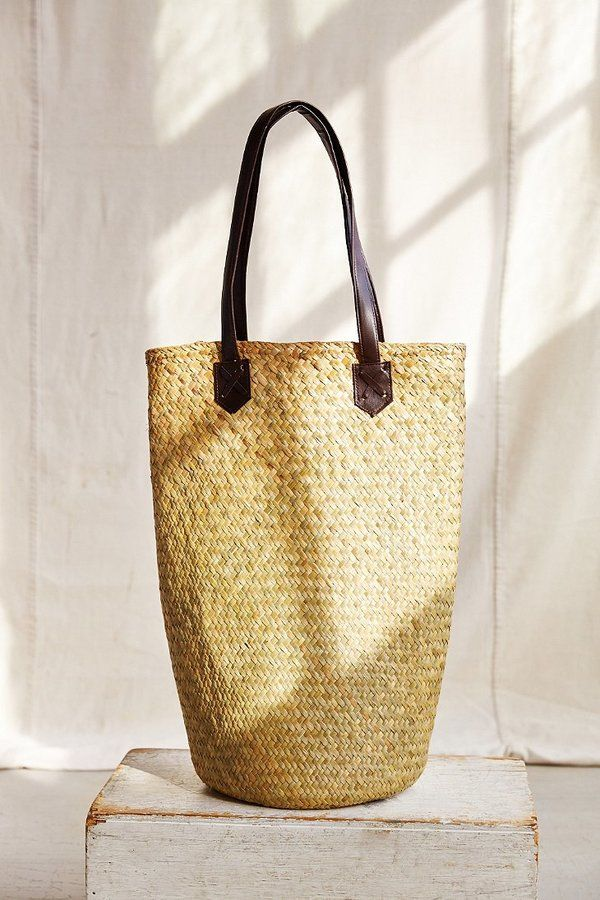 Urban Renewal Connected Oversized Rattan Shopper Bag