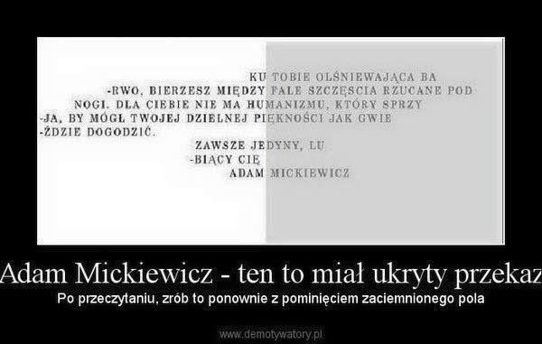 Adam Mickiewicz śmieszne Smsy śmieszne Cytaty I Cytaty