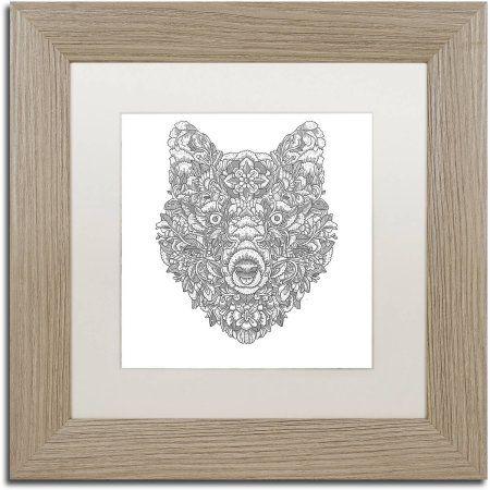 Trademark Fine Art \'Blooming Wolf\' Canvas Art by Filippo Cardu White ...