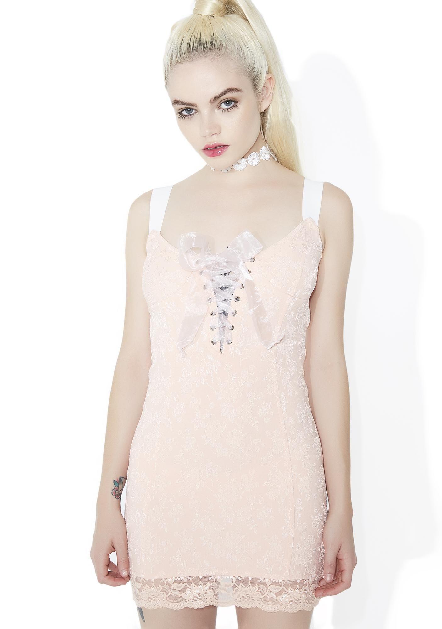 610418dfec Sugar Thrillz Killer Queen Lace-Up Mini Dress
