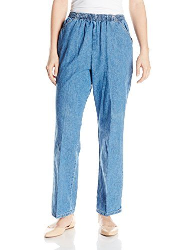 795cb4de3d0 Chic Classic Collection Women s Cotton Pull-On Pant with ... https