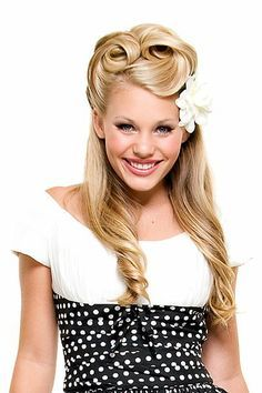 1950s Hairstyles For Long Hair Google Search Pin Up Hair Make