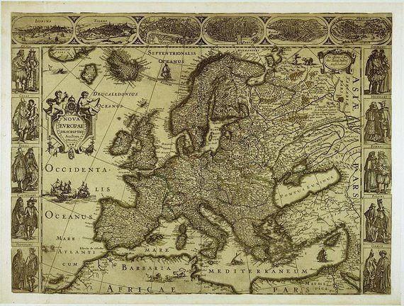 Map of Europe, Antique world maps, ancient maps, World Map ...