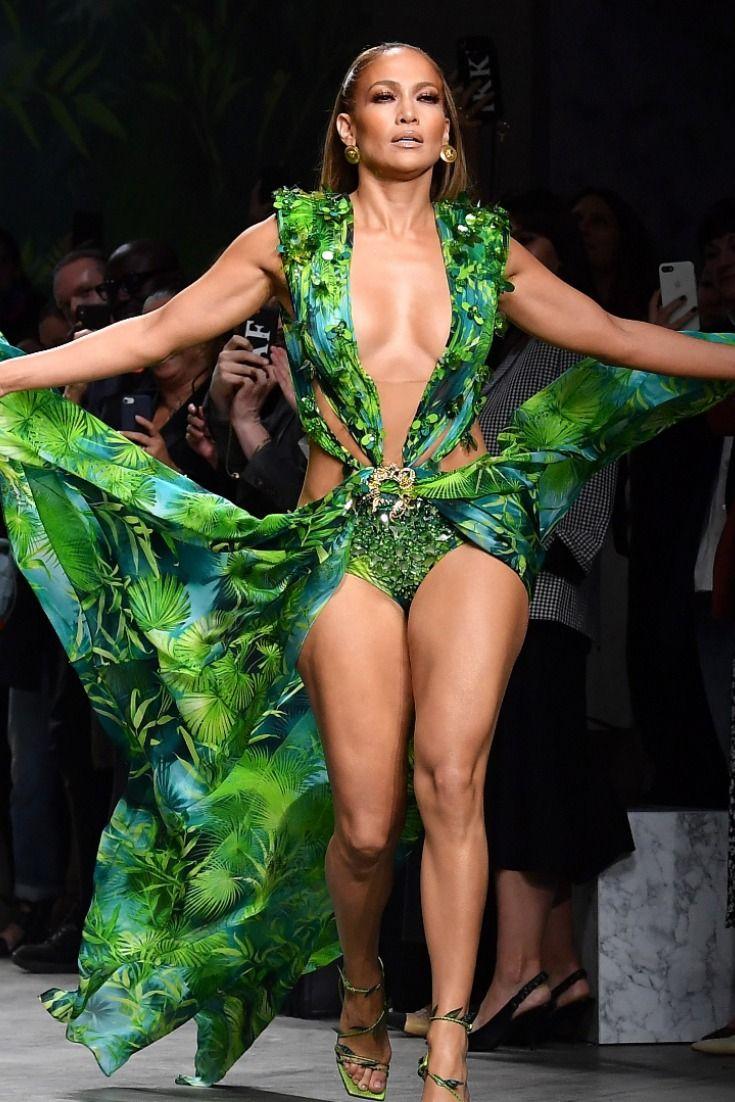 Jennifer Lopez In Versace Green Dress Broke The Internet Fashion Versace Dress Versace Runway [ 1102 x 735 Pixel ]