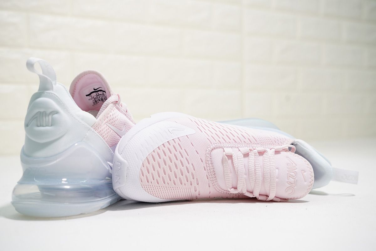 Women Nike Air Max 270 Light Pink Pure White For Sale Air Max
