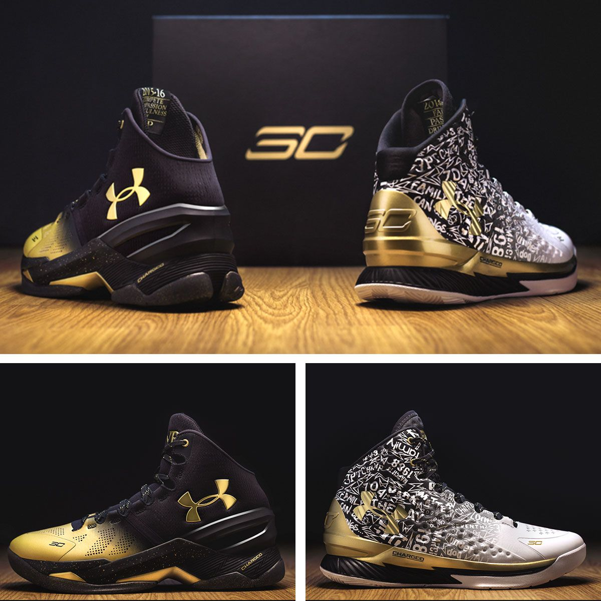 Celebrate Stephen Curry\u0027s MVPs with the \u0027Back 2 Back\u0027 pack, featuring \u0027MVP\u0027  editions of the Curry 1 and Curry (Basketball Shoes)