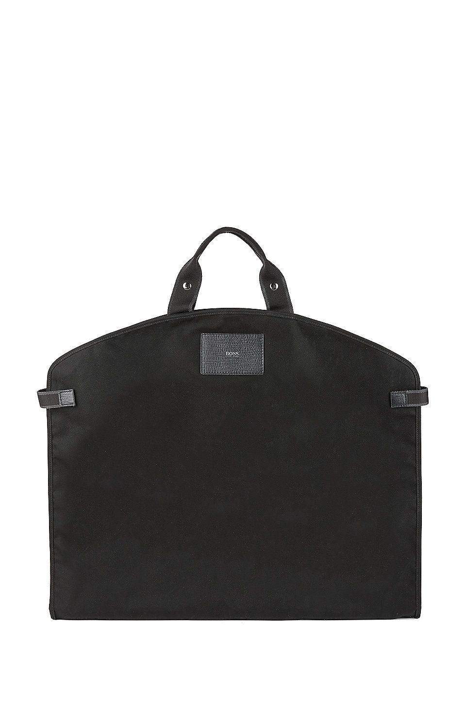 faabf467daeb HUGO BOSS Nylon garment bag with Italian calf-leather trims - Black Luggage  from BOSS for Men in the official HUGO BOSS Online Store free shipping