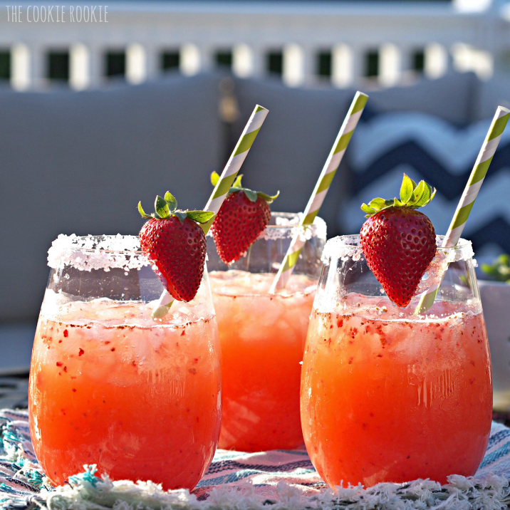 Strawberry Margarita Punch. The Best Party Drink For A