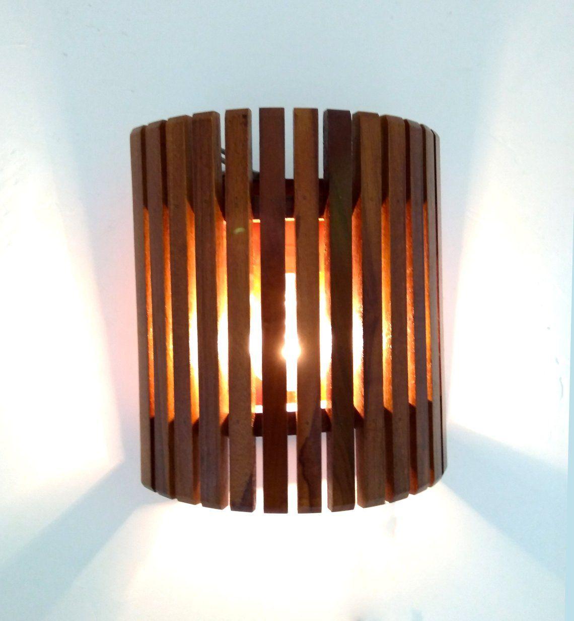 Wall Lamp Handmade Teak Wooden Lamp Wood Lamp Wall Light