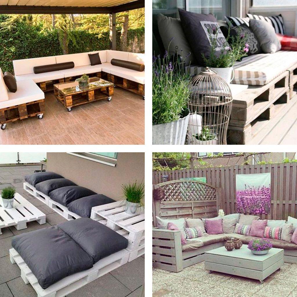 Sof s con palets de exterior sof s con palets pinterest sofas con palets palets y sof - Sofa de palets ...
