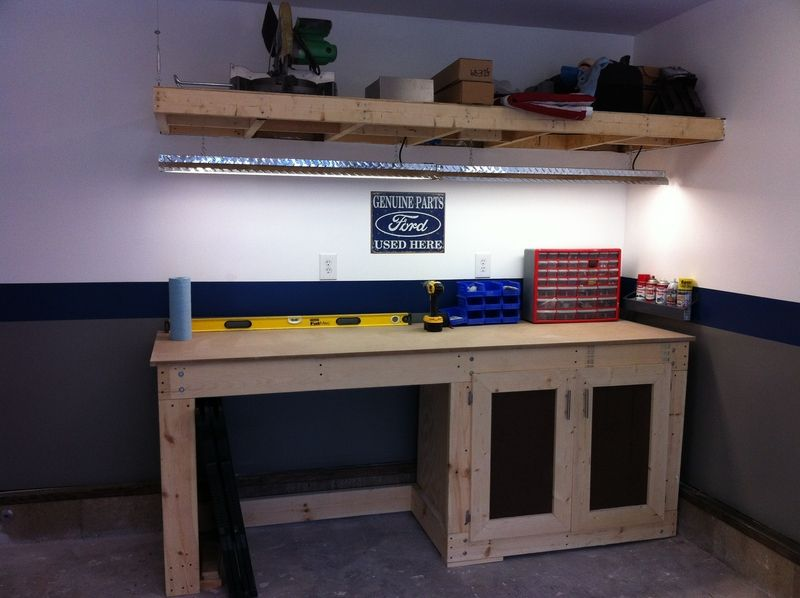 workbench lighting ideas. image of garage work bench how would you finish this workbench the lighting ideas