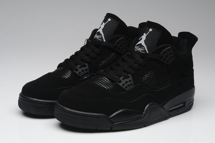 3731ff33c Nike Air Jordan 4 Basketball Shoes Man All Black . ...