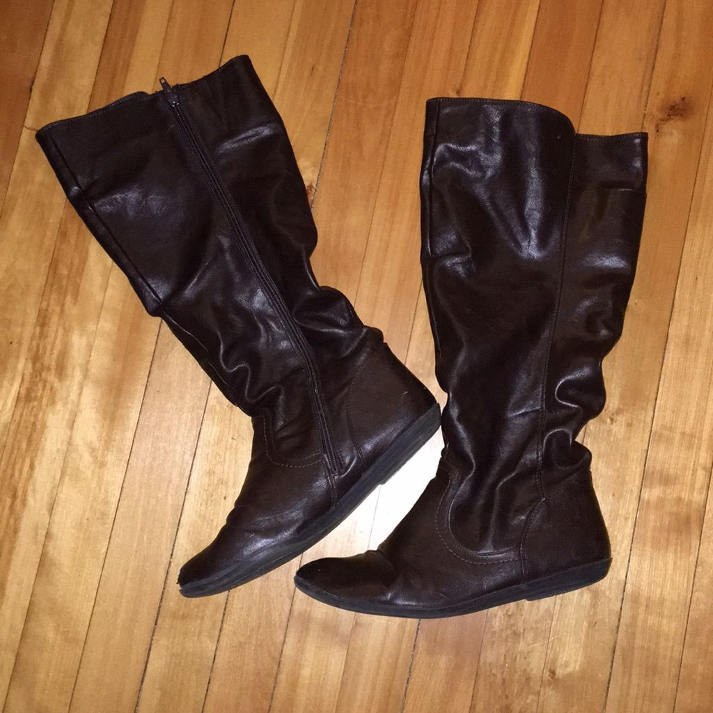 torrid Shoes | Torrid Brown Wide Calf Boots 9.5 | Color