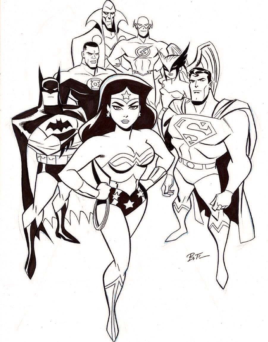The Justice League Sketch Martian Manhunter The Flash Green Lantern Hawkgirl Batman Superman And Wonder Woman Bruce Timm Superhero Art Comic Books Art Research sales history of all cgc & cbcs grades. bruce timm superhero art comic books art