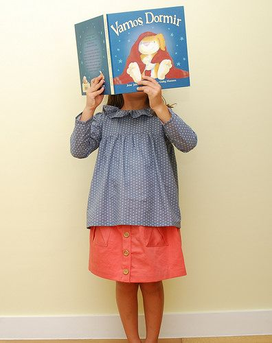 Goodnight book, twill and stars | Flickr - Photo Sharing! O+S hopscotch skirt and citronille blouse