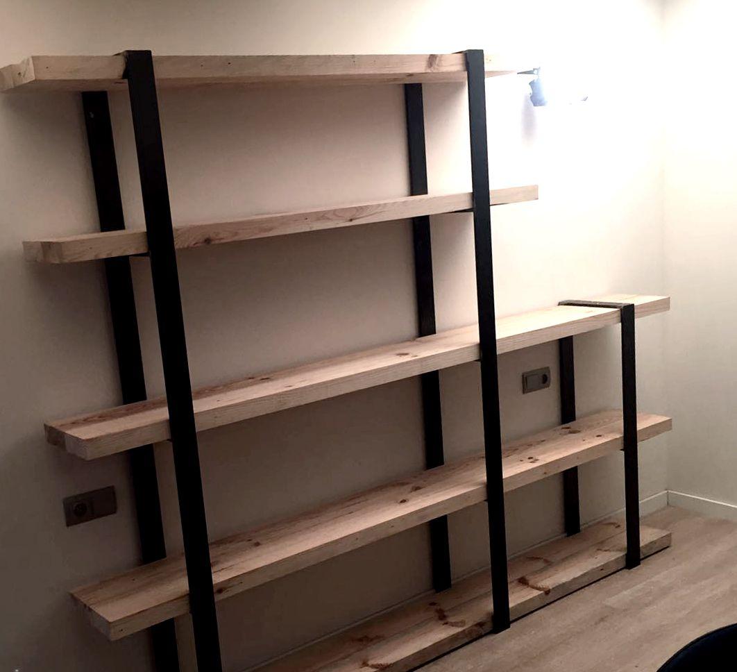 Estanterias fabricadas a mano con maderas pino de flandes - Puertas para estanterias ...