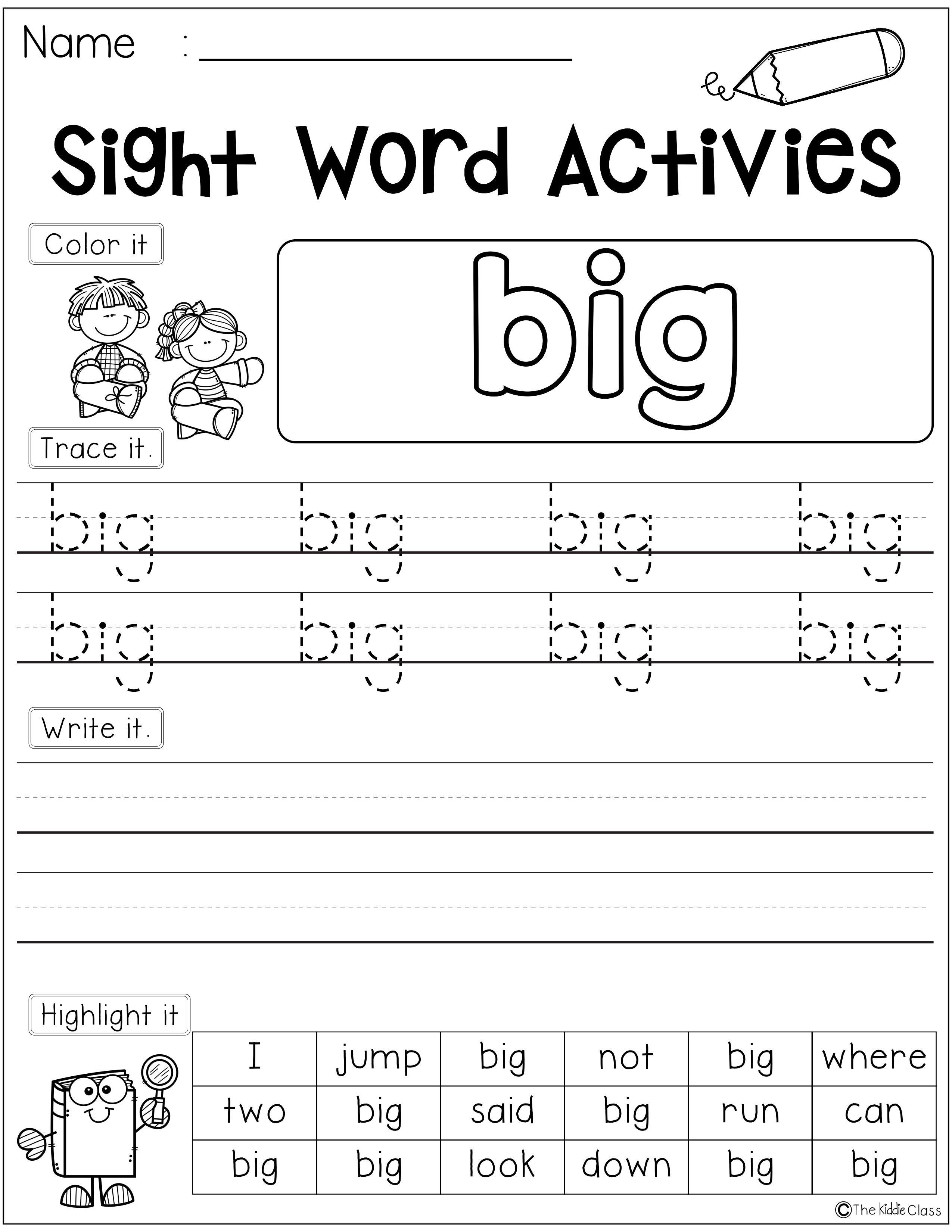 Free Sight Word Activities