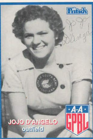 Photo of Josephine D'Angelo, who passed away on August 18th at the age of 88, was a left fielder in the All-American Girls Professional Baseball League.