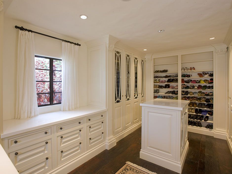 With Ample Storage And Impeccable Details This Over Sized Walk In Closet Is Perfect For Even The Large Build A Closet Organize Closet Space Girls Dream Closet