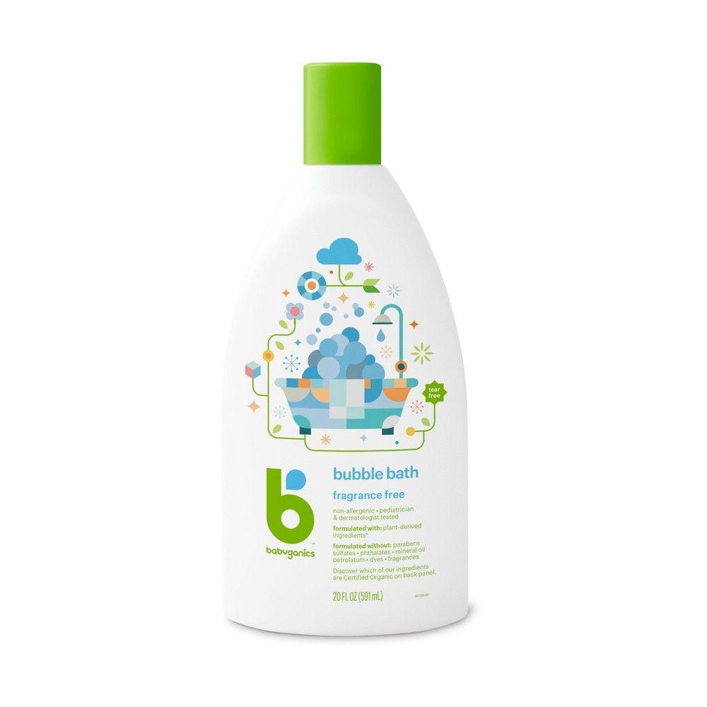 Babyganics Baby Bubble Bath Fragrance Free 20oz Bottle Baby Bubble Bath Fragrance Free Products Bath Fragrance