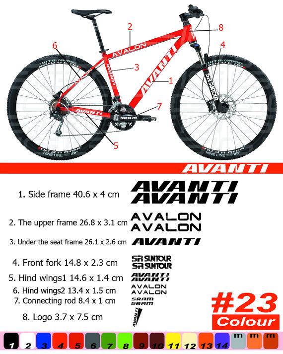 AVANTI Bike Frame Sticker Autocollant Bicycle Mountain Restoration  Sticker MTB BMX The frame 7227914771013