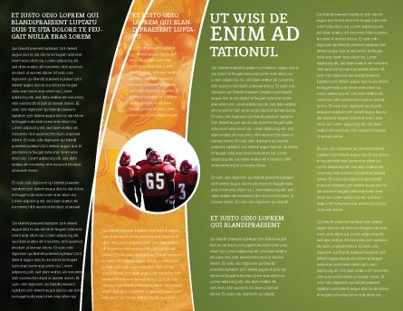 american football play off brochure template inner page