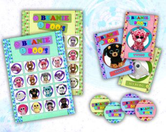 Beanie Boo S Printable Party Bingo Game Lauren S 10th Birthday