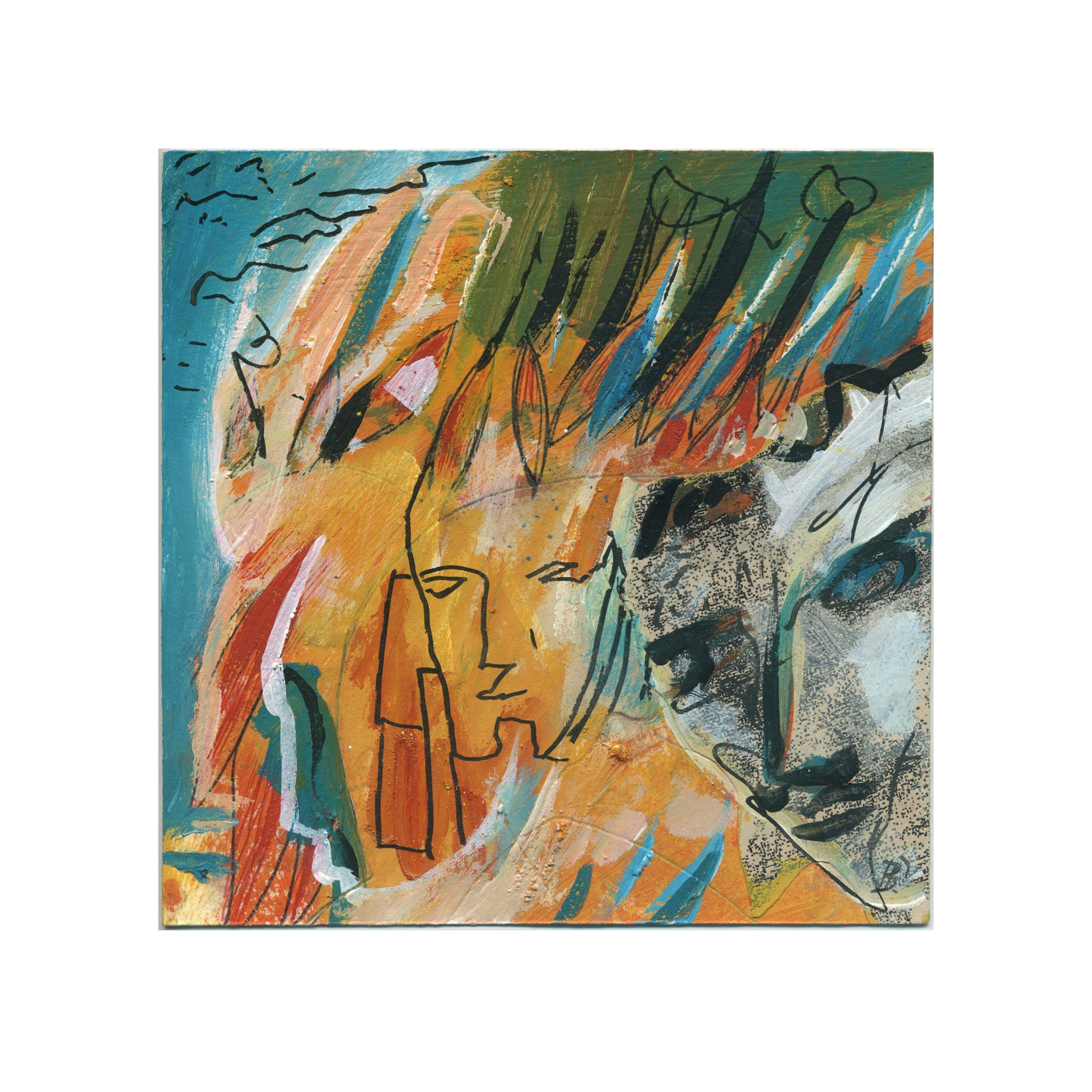 Bild Unikat 15 15 Cm 5 9 5 9 Inch Abstrakte Malerei Abstrakte Kunst Farbenfrohe Wandbilder Abstract Painting Original Paintings Figure Painting